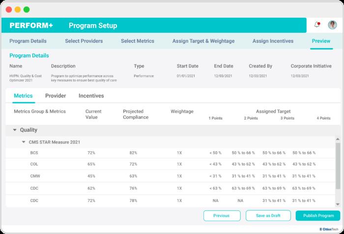 PERFORM+ _ Program setup