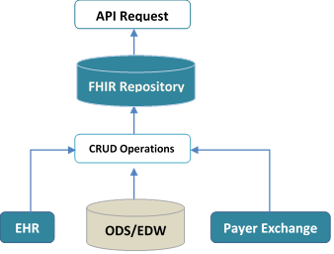 figure showing FHIR data repository