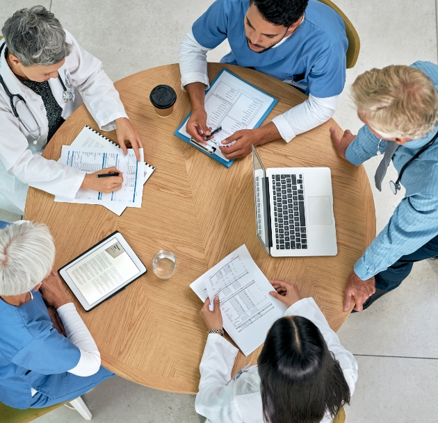 image of medical professionals in a meeting